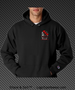 Heavyweight Pullover Hooded Sweatshirt 9.5 ounce. Design Zoom